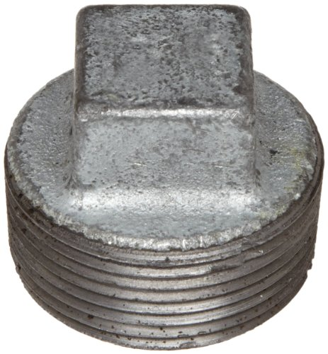 Anvil 8700160107, Malleable Iron Pipe Fitting, Square Head Plug, 2 NPT Male, Galvanized Finish by Anvil International -