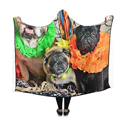 JOCHUAN Mit Kapuze Decke Hunde Karneval Decke
