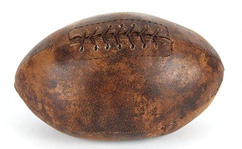 Juliana, fermaporta per la casa a forma di palla da Rugby, con finitura in pelle