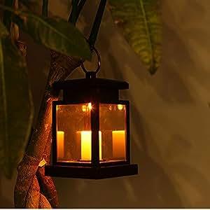 Docooler Vintage Impermeabile Solar Powered Hanging Ombrello Lanterna Portatile del LED a Lume di Candela con Morsetto per Beach Umbrella Tree Padiglione del Giardino del Prato Camping