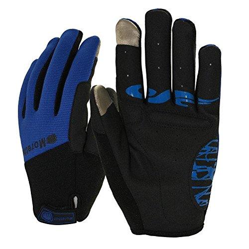 DHH Lange Finger Handschuhe kalt gelötet warmen Touchscreen Mountainbike Reithandschuhe Outdoor Sport, Blue, l