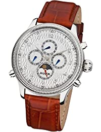 AUER Automatic Collection BA-509-SlBrL Reloj Automático para hombres Diseño Clásico