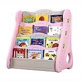 Bücherregal für Kinder Büchergestell im Kinderzimmer Kinderregal Kinderzimmerregal für Jungen und Mädchen Kinder Bücherregal Regal Bücher kinder/Klein Bücher Regal/Klein Standregal ( Color : Pink )