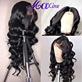 Maxine Hair Brazilian 360 Lace Frontal Wig Body Wave Lace Frontal Wigs 180% Full Density with Baby Hair Unprocessed Human Hair Body wave Lace Frontal Wigs Natural Color(18inch)