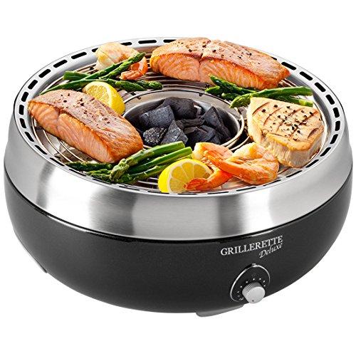 Food and Fun Tisch-Holzkohlegril Grillerette Premium, schwarz