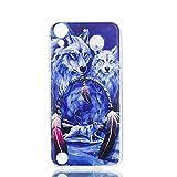 LMAZWUFULM Hülle für HTC Desire 650 / 626G / 628 (5,0 Zoll) Weiche TPU Schutzhülle Silikon Handyhülle Schnee Wolf mit Traumfänger Muster Flexible Rückschale Cover für HTC Desire 650 / 626G / 628