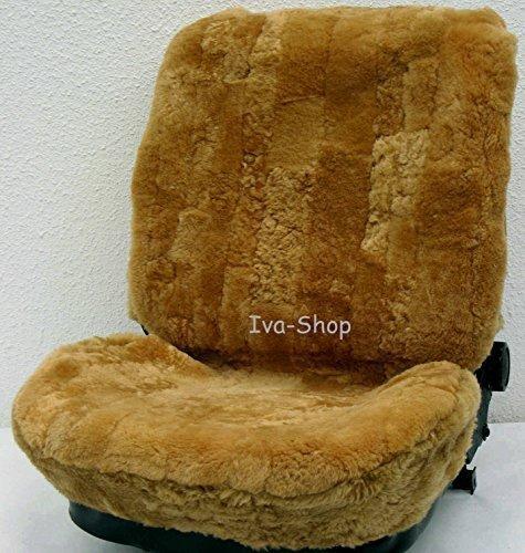 Preisvergleich Produktbild 2x echtFell LAMMFELL-Sitzbezug feste Wolle Lammfellbezug Schonbezug (Camel)
