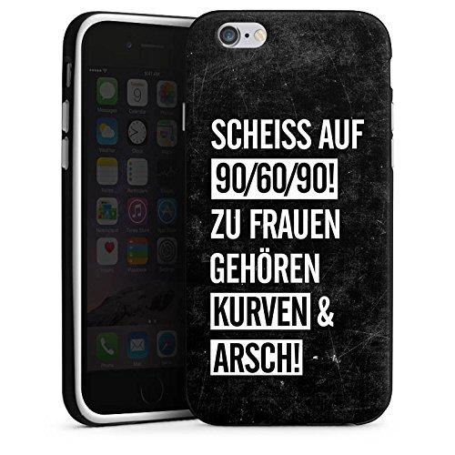 Apple iPhone X Silikon Hülle Case Schutzhülle Frauen Kurven Spruch Silikon Case schwarz / weiß