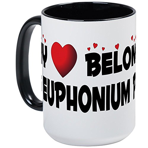 CafePress – Belongs To A Euphonium Player große Tasse – Kaffeetasse, 425 ml Kaffeetasse, Weiß Large White/Black Inside