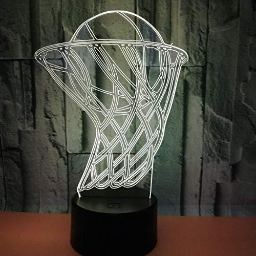 Der Basketball-Korb 3D Beleuchtet Die 7 Farbige Vision 3D, Die Geführte Nachtlicht-Sport-Dekorative Lampe Des Nachttischs Für Das Schlafzimmer Der Kinder Geführt Wird