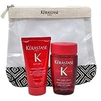 kerastase kit da viaggio soleil bain 80ml + uv sublime cream 50ml + pochette