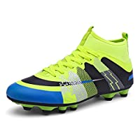Easondea Football Boots Kids High Top Football Shoes Teenagers Training Shoes Professional Outdoor Soccer Shoes