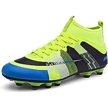 Easondea Botas de Fútbol Zapatos de Fútbol Dedicados FG Spike Grapas de Fútbol Profesional Unisex Niño