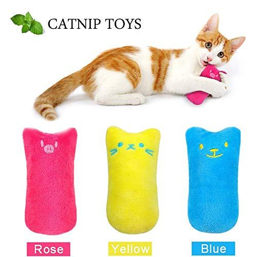 Sailfish Interaktives Katzenminzen-Spielzeug, lustig, für Kätzchen, Katzen, zum Kauen, 3 Stück