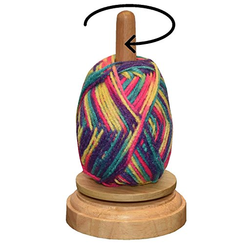 Wood Yarn Holder Twirling Mechanism
