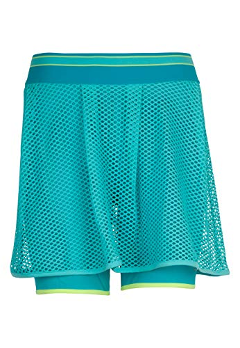 TAO Sportswear Atmungsaktiver Damen Funktionsrock mit kurzer anliegender Hose Rock mit Tight Tender Blue 38