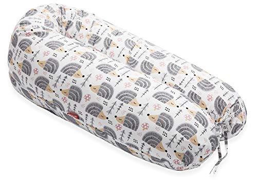 SCAMP Stillkissen universales Schwangerschaftskissen inkl. Bezug verschiedenes Design NEU (Hedgehog Grey)