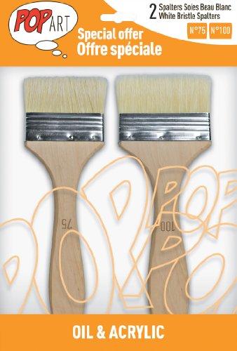 Pébéo 950650 Pochette de 2 Spalters Manche Longue Soies Beau Blanc