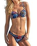 Sunflair Bikini, Softschalen, blau-weiß-rot blau 42B