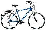 F.lli Schiano Monza Trekking Bicicletta Uomo 21V, Blu, 28