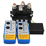 Tutoy 12V 500Amp Hd Electric Cabrestante Contactor Cabrestante Control Solenoide Twin Wireless Remote Recovery 4X4