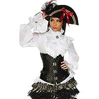 Atixo-Cappello da pirata, colore: nero/oro, adeguatamente il Costume In negozio