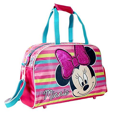 Minnie 2100000156 Bolsa de Deporte, Color Fucsia