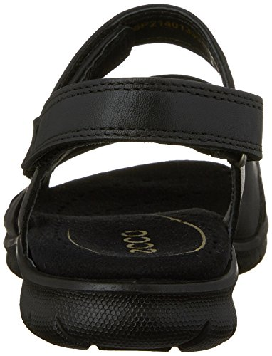 Ecco Babett, Sandales Bride Femme Noir (Sandal Black Feather01001)