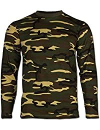 T-shirt manches longues Camo Woodland