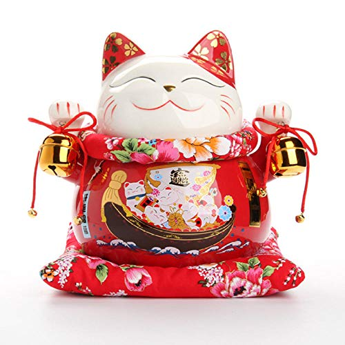 Hividd Dekoration Desktop 25,4 cm Keramik Home Decor Porzellan Ornaments Cute Sparschwein Feng Shui @3