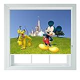 Verschiedene Disney Charaktere verschiedene Größen Kinder Black Out Rollo für Schlafzimmer Badezimmer Küche und Wohnwagen AOA®, pluto & mickey, 2ft 60cm