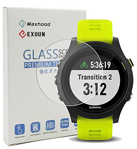 maxhood Garmin Forerunner 935Displayschutzfolie Glas, 9H Härte 0,3mm ultradünne 2.5d Round Edge gehärtetem Glas Displayschutzfolie für Garmin 935