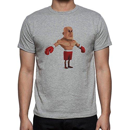 Gym Strong Yoga Fitnes Boxing Herren T-Shirt Grau