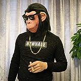 Foxmask Nest Addobbi Halloween Mascherafacciale Maschera Testa di Cane Cos Testa di Cavallo Asino Orangutan Anatra Cane Animale Copricapo Maschera Bar per Adulti Live @ Gorilla