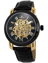 Burgmeister Armbanduhr für Herren mit Analog Anzeige, Automatik-Uhr und Lederarmband - Wasserdichte Herrenuhr mit zeitlosem, schickem Design - klassische Uhr für Männer - BM328-222B Jamaika