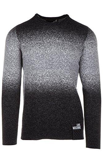 Love Moschino maglione maglia uomo girocollo grigio EU M (UK 38) M S 3U7 00 X 1036 40