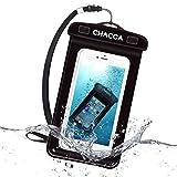 CHACCA Huawei P20 Lite Wasserdichte Handyhülle IPX8 Abdeckung Tasche für Ferien Studenten, für P10 Lite, P10, Samsung A3,Schwarz