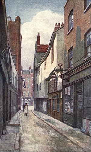 Philip Norman – London Vanished & Vanishing 1905 Leather Lane (towards Holborn) Kunstdruck (60,96 x 91,44 cm) Philip Lane
