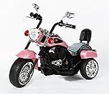 Ricco, TR1501, Kinder-Dreirad, Chopper, Trike, Motorrad, Elektro-Motorrad, mit LED-Lichtern und Musik, weiß