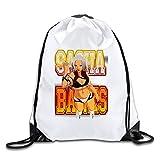 Sasha Poster Banks Logo weiß Kordelzug Rucksack Sport Tasche für Herren und Damen, weiß