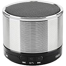 Bluetooth Lautsprecher, Tragbarer mini Wireless Lautsprecher mit mehr Baß eingebautem Mikrofon und 3.5mm Klinkenstecker für Smartphones / Tabletten / MP3 / MP4