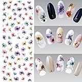 Kingko® 12 PCS Water Transfer Sticker Nail Stickers Flower Fashion Sticker