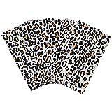 Paquete de 50 Máscaras de polvo desechables del patrón de la impresión del leopardo de la manera