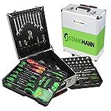 STARKMANN Greenline Premium Werkzeugset im abschließbaren Trolleykoffer 399 Teile Steckschlüssel
