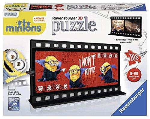 Ravensburger 3D-Puzzle 11209 – Filmstreifen Minion, Gone Batty, bunt