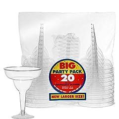 Idea Regalo - Amscan 325 ml 20 Pezzi Margarita Bicchieri di plastica, Trasparente