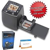 DIGITNOW!High Resolution 135 Film/Slide Scanner, Slide Viewer and Convert 35mm Negative Film &Slide to Digital JPEG Save into SD Card, with Slide Mounts Feeder No Computer/Software Required.