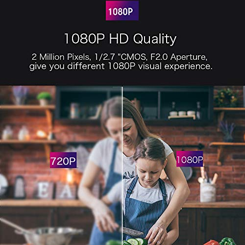 Mibao 1080P Telecamera Sorveglianza Wifi Camera IP Wireless Interno con Visione Notturna, Rilevamento Movimento, Allarme via Email, Pet/Elderly/Baby Monitor, Compatibile con iOS e Android e PC - 3