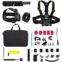 Victure 51 en 1 Accesorios Kit de Acción cámara para GoPro Hero 5 4 3+ 3 2 1 SJ4000 SJ5000 SJ6000 APEMAN cámaras