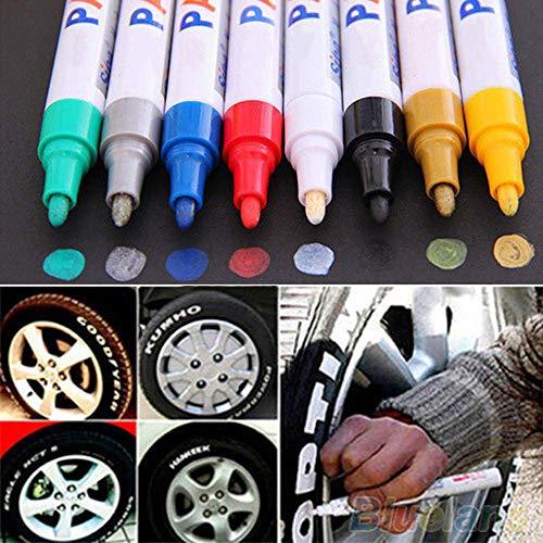 EPRHY Rotulador de Pintura Pintura al óleo de ciprés Fino, Base de Metal, Vidrio, Resistente al Agua, bolígrafo de Graffiti para Herramientas de decoración de Adultos, 12 Colores
